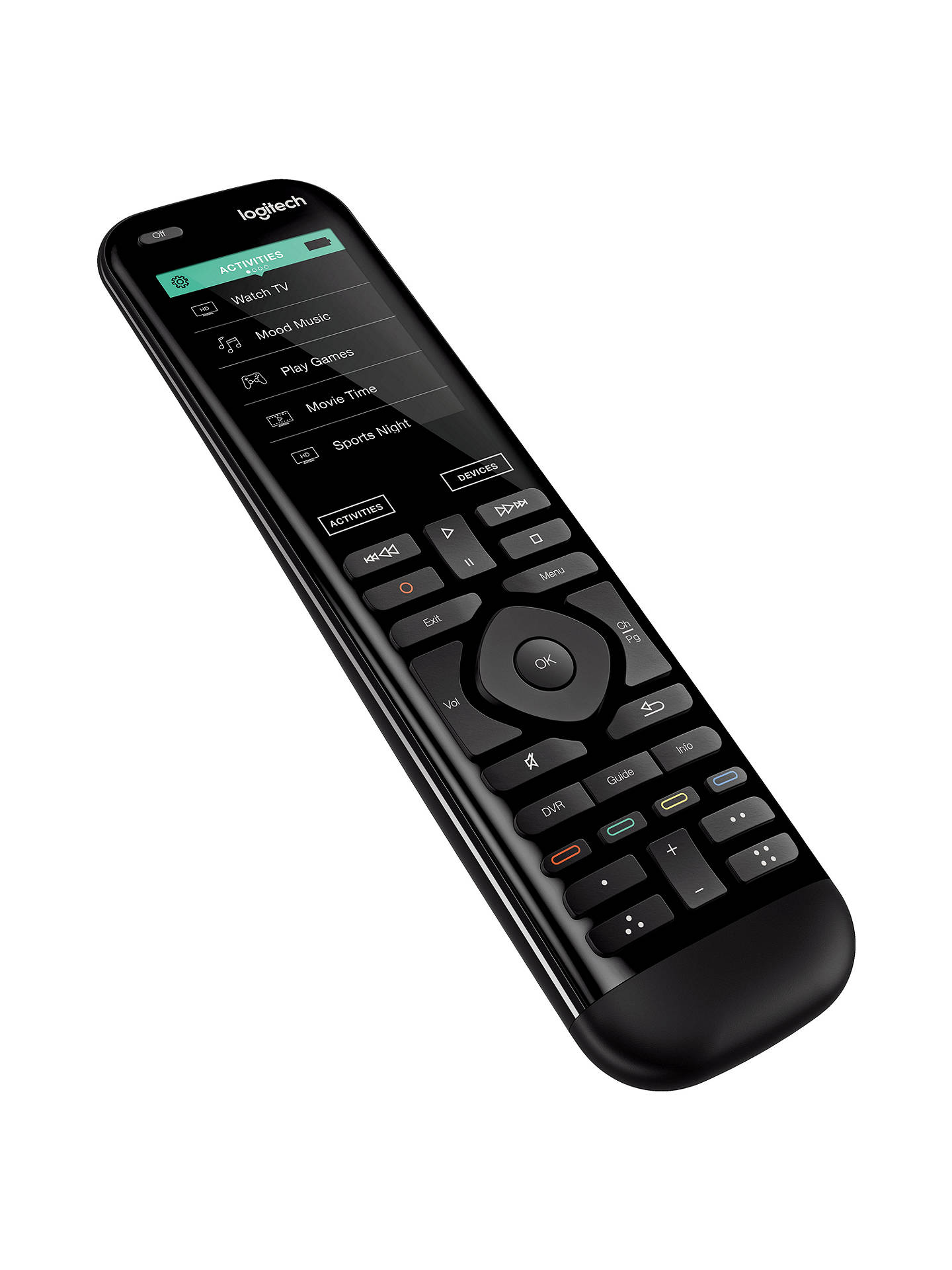 "BuyLogitech Smart Home Harmony 950 Universal Remote Control With 2.4"" Colour Touchscreen Online at johnlewis.com"