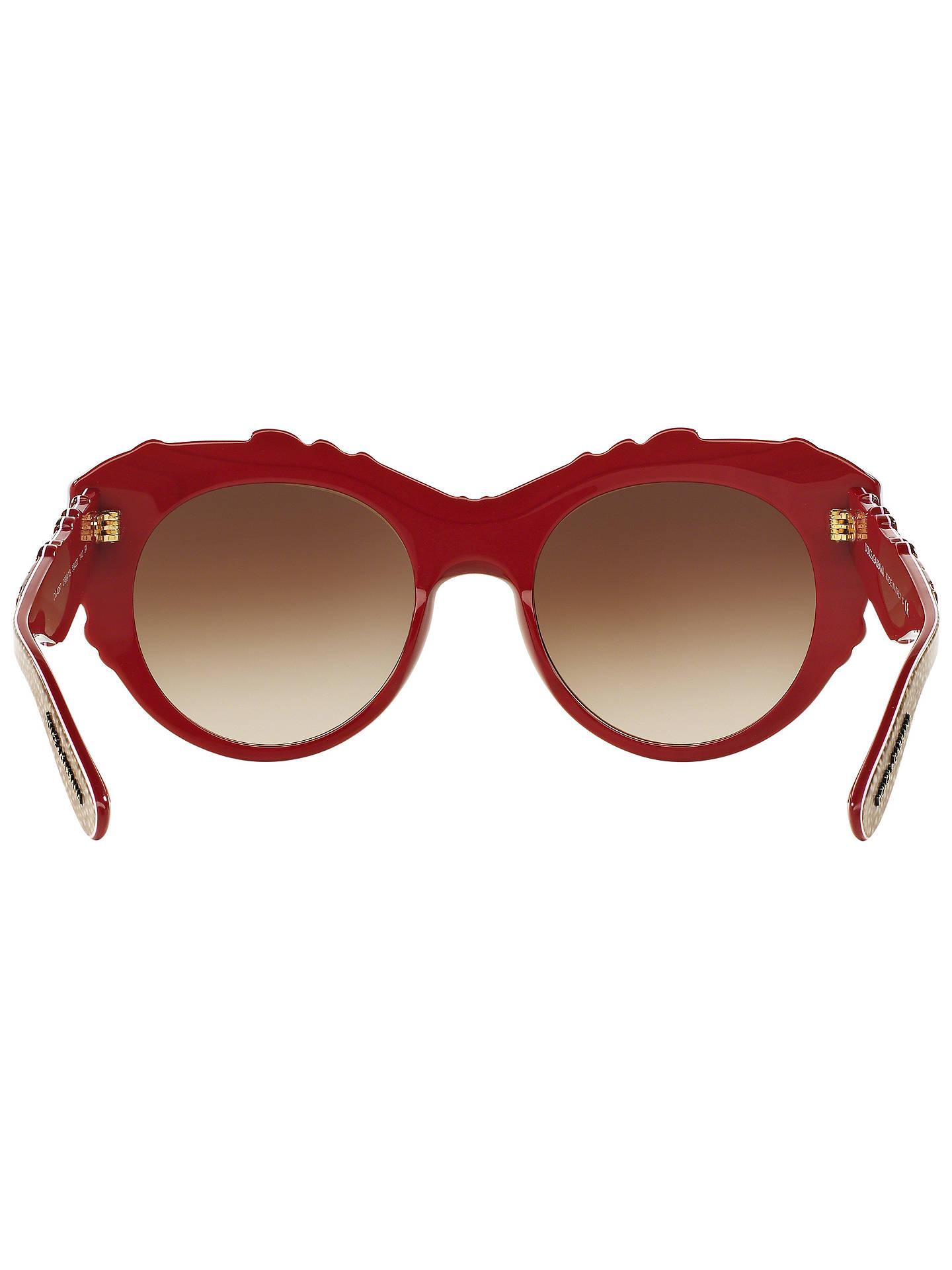 2e1cc0d5e0d9 Dolce   Gabbana DG4267 Round Embellished Sunglasses at John Lewis ...