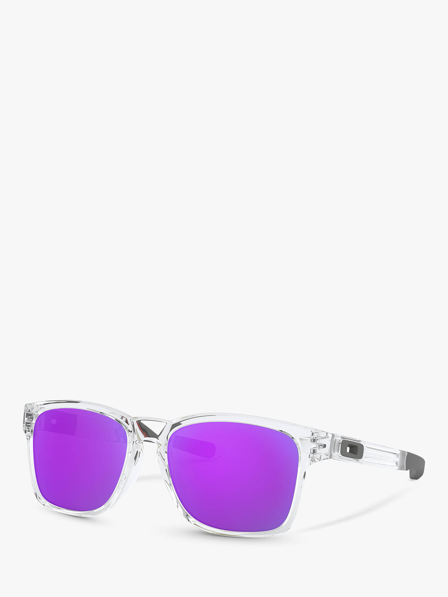 Buy Oakley OO9272 Catalyst Rectangular Sunglasses, Purple Online at johnlewis.com