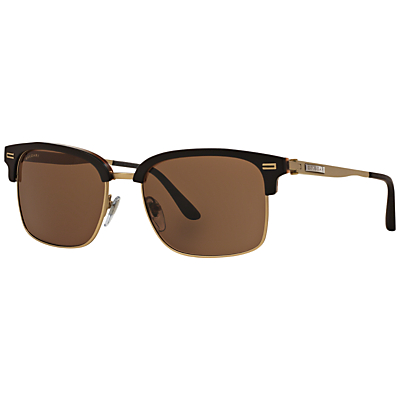 BVLGARI BV7026 D-Frame Sunglasses, Black/Gold