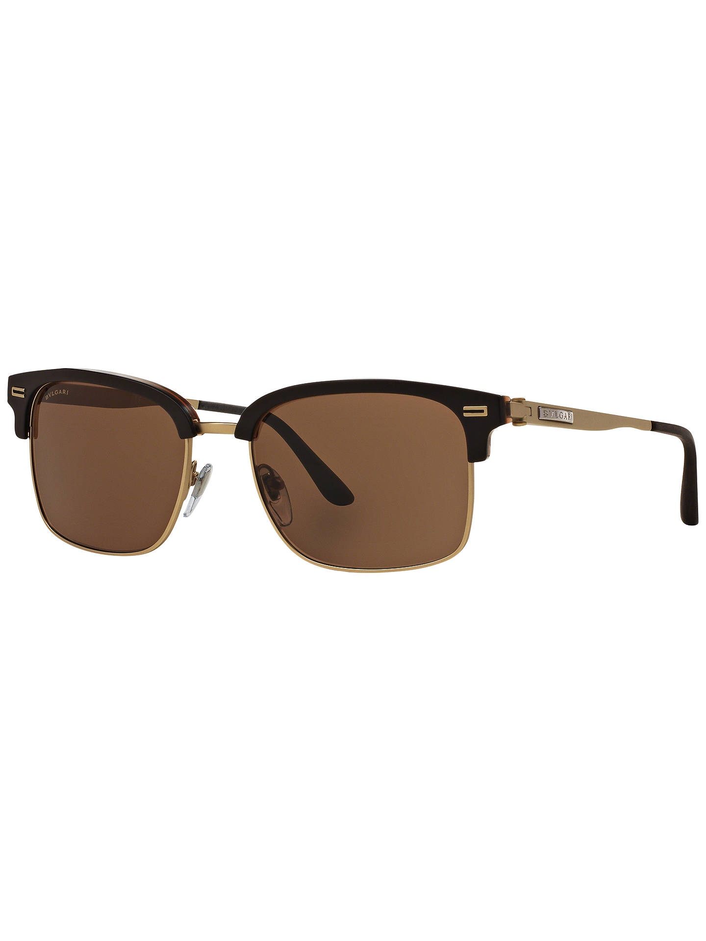 BuyBVLGARI BV7026 D-Frame Sunglasses, Black/Gold Online at johnlewis.com