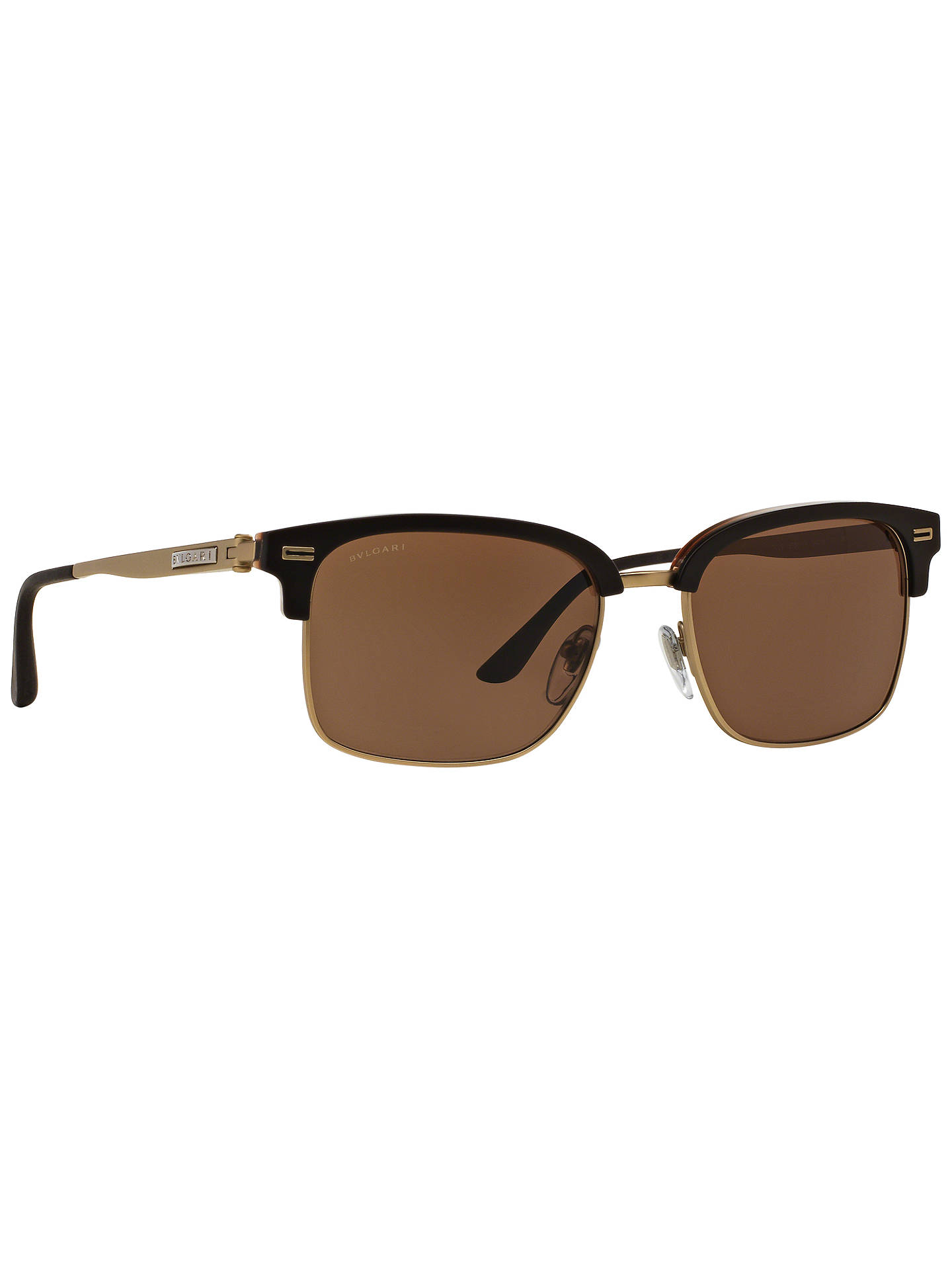 Buy BVLGARI BV7026 D-Frame Sunglasses, Black/Gold Online at johnlewis.com