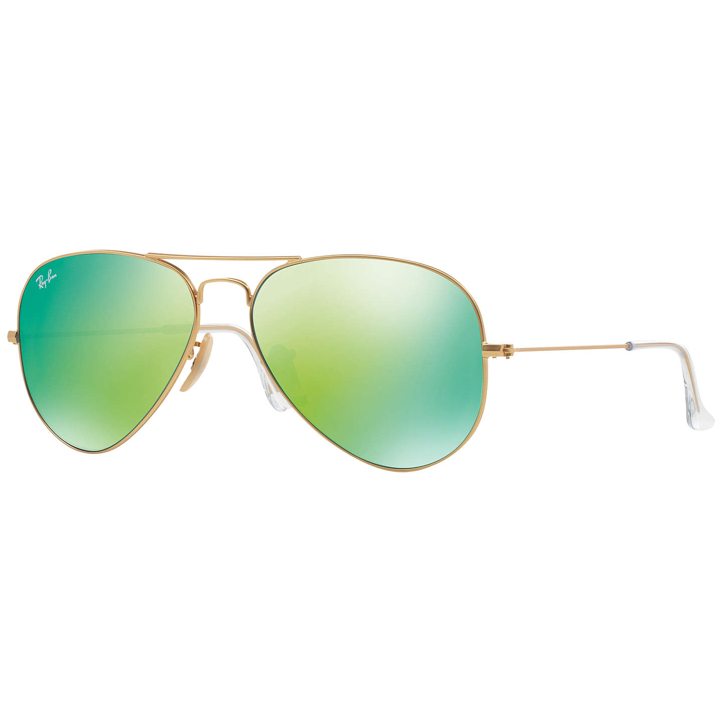 BuyRay-Ban RB3025 Aviator Sunglasses, Green Online at johnlewis.com