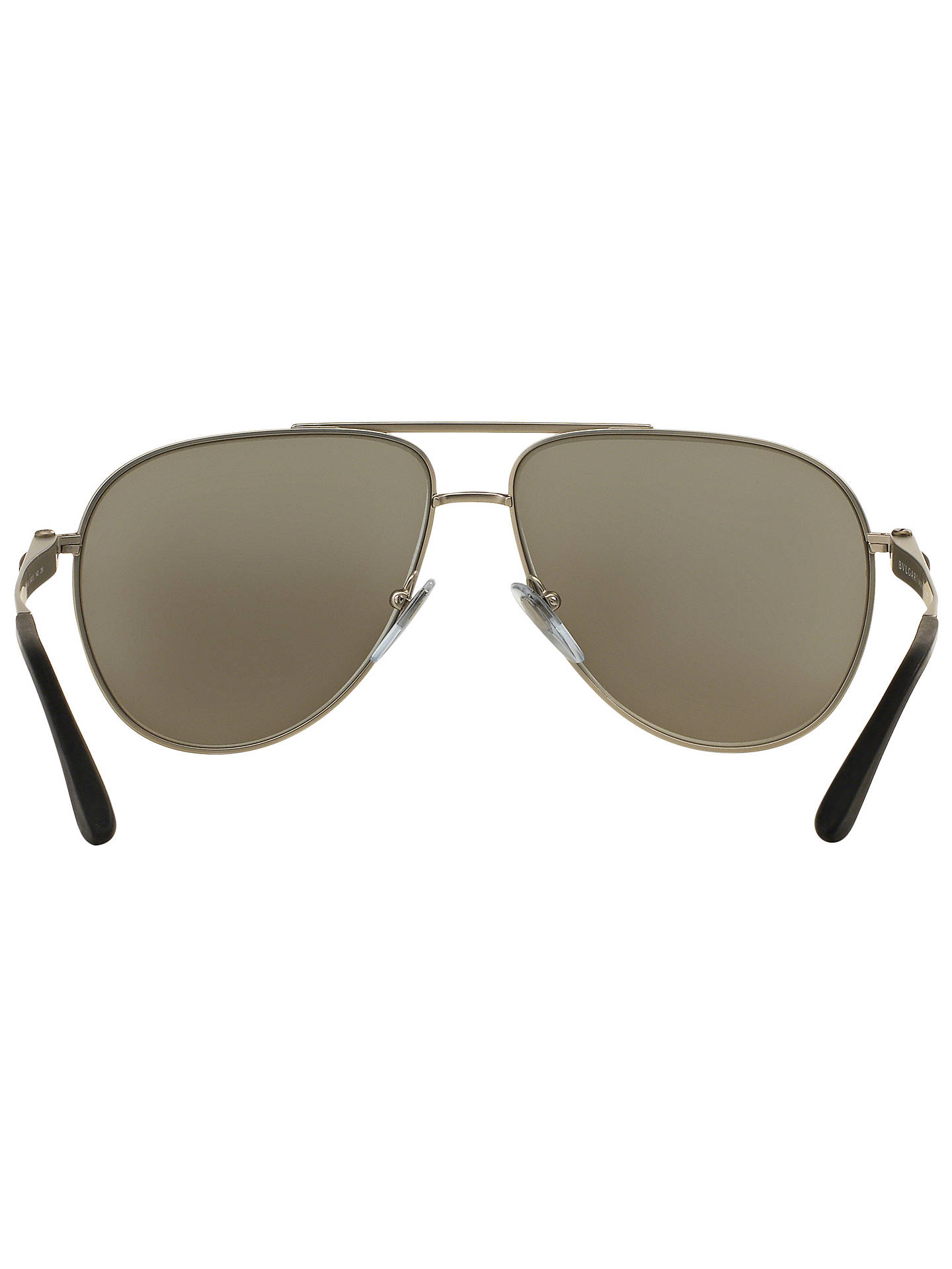 BuyBVLGARI BV5037 Aviator Sunglasses, Gold Online at johnlewis.com