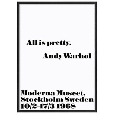 Andy Warhol – All Is Pretty, 103 x 73cm