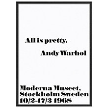 Buy Andy Warhol - All Is Pretty, 103 x 73cm Online at johnlewis.com