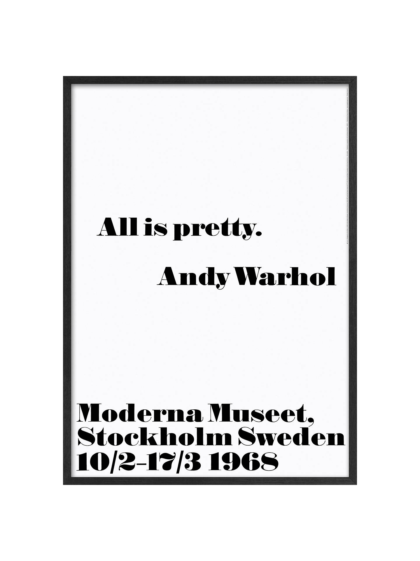Buy Andy Warhol - All Is Pretty Framed Print, 103 x 73cm Online at johnlewis.com