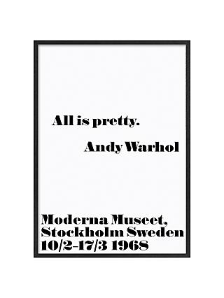 Andy Warhol - All Is Pretty, 103 x 73cm