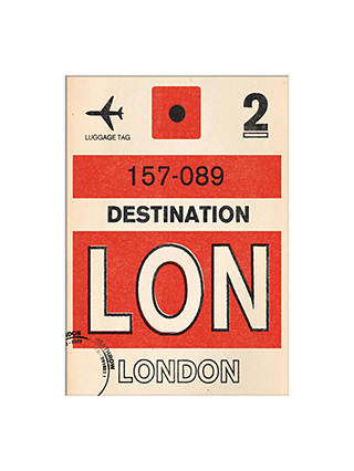 Buy Nick Cranston - Luggage Labels: London Unframed Print with Mount, 40 x 30cm Online at johnlewis.com