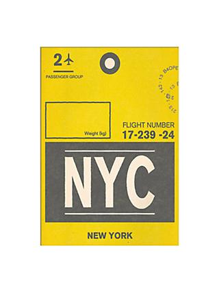 Nick Cranston - Luggage Labels: New York Unframed Print with Mount, 40 x 30cm