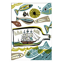 Buy Gillian Martin - Ship in a Bottle Unframed Print with Mount, 40 x 30cm Online at johnlewis.com