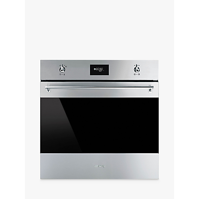 Image of Smeg SFP6378X Classic Built-In Multifunction Single Oven, Stainless Steel