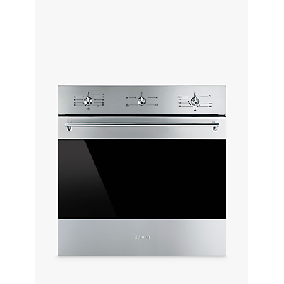Smeg SF6341GVX Classic Built-In Single Gas Oven, Stainless Steel