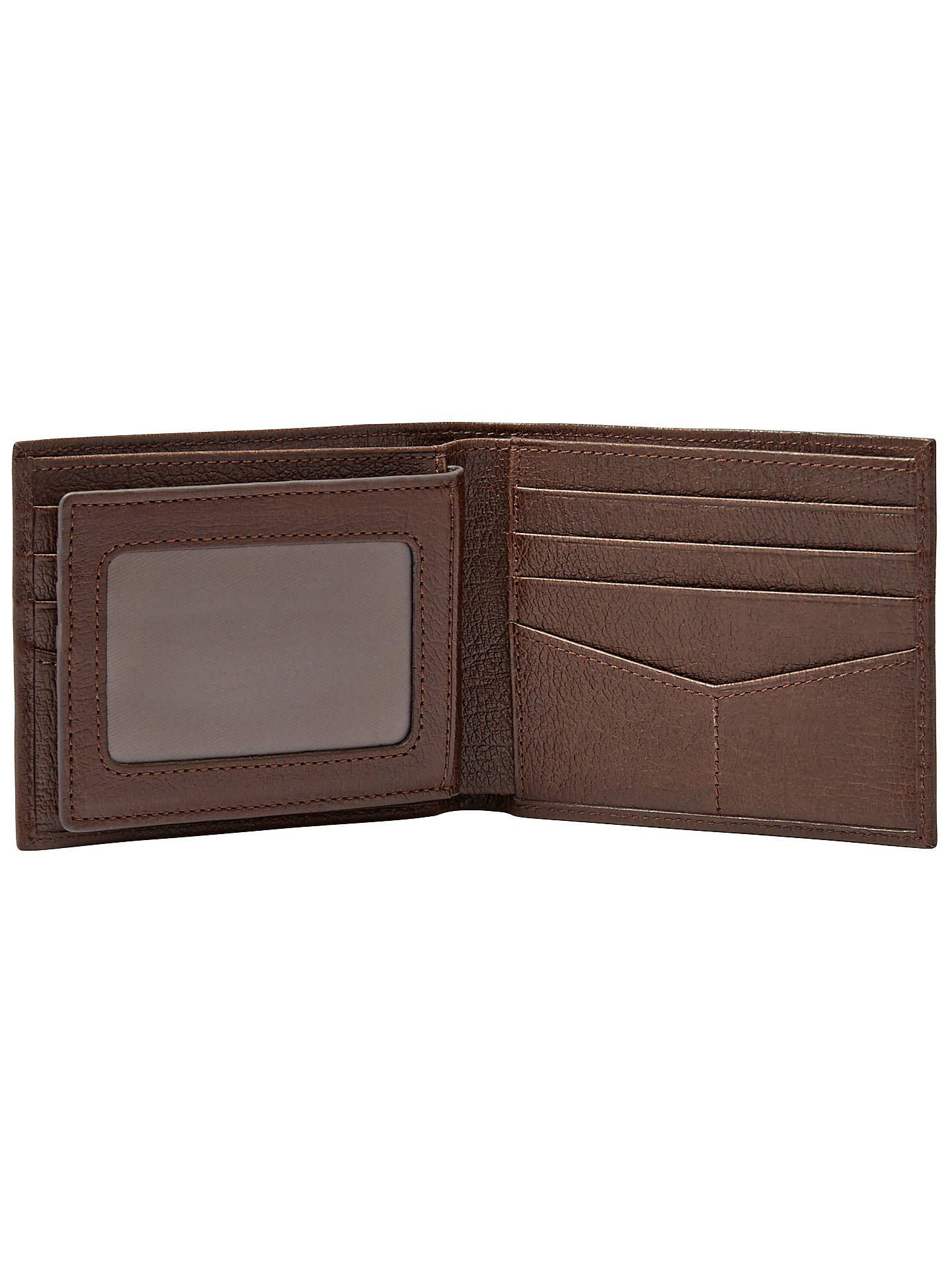 Non-Branded Dark Brown Leather Passcase Wallet w// 6 Credit Card Slot
