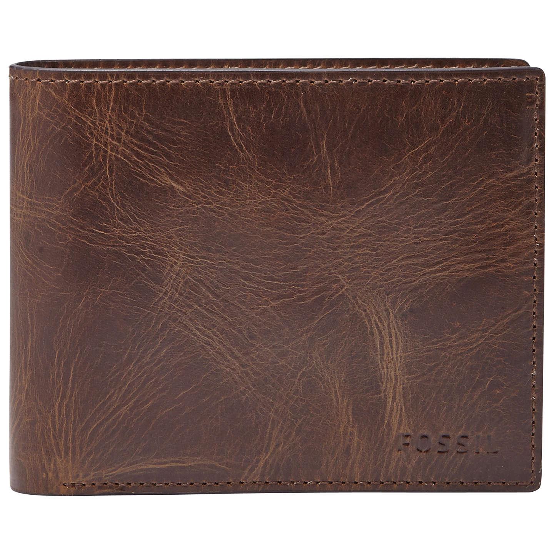 FOSSIL Hunter Large Coin Pocket Bifold DK Brown xWAjA