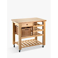 Buy Eddingtons Lambourn Butcher's Trolley Wine Rack, Small, Beech Wood Online at johnlewis.com