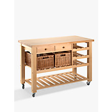 Buy Eddingtons Lambourn Butcher's Trolley Wine Rack, Medium, Beech Wood Online at johnlewis.com