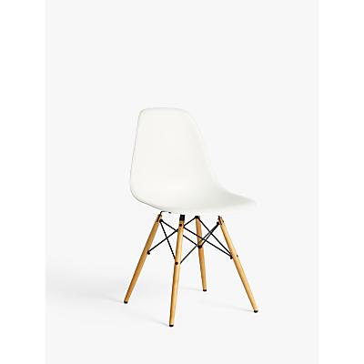 Vitra Eames DSW Side Chair, Light Maple Leg