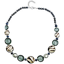 Buy Martick Candy Cane Swirl Murano Glass and Crystal Necklace Online at johnlewis.com