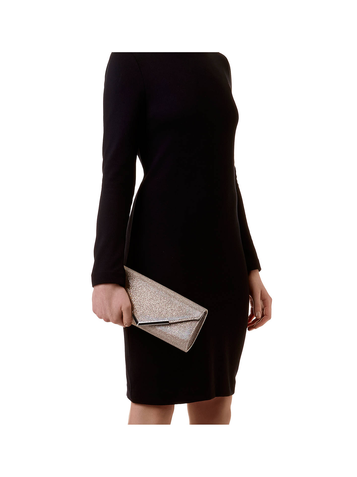 BuyCarvela Daphne Envelope Clutch Bag, Silver Online at johnlewis.com