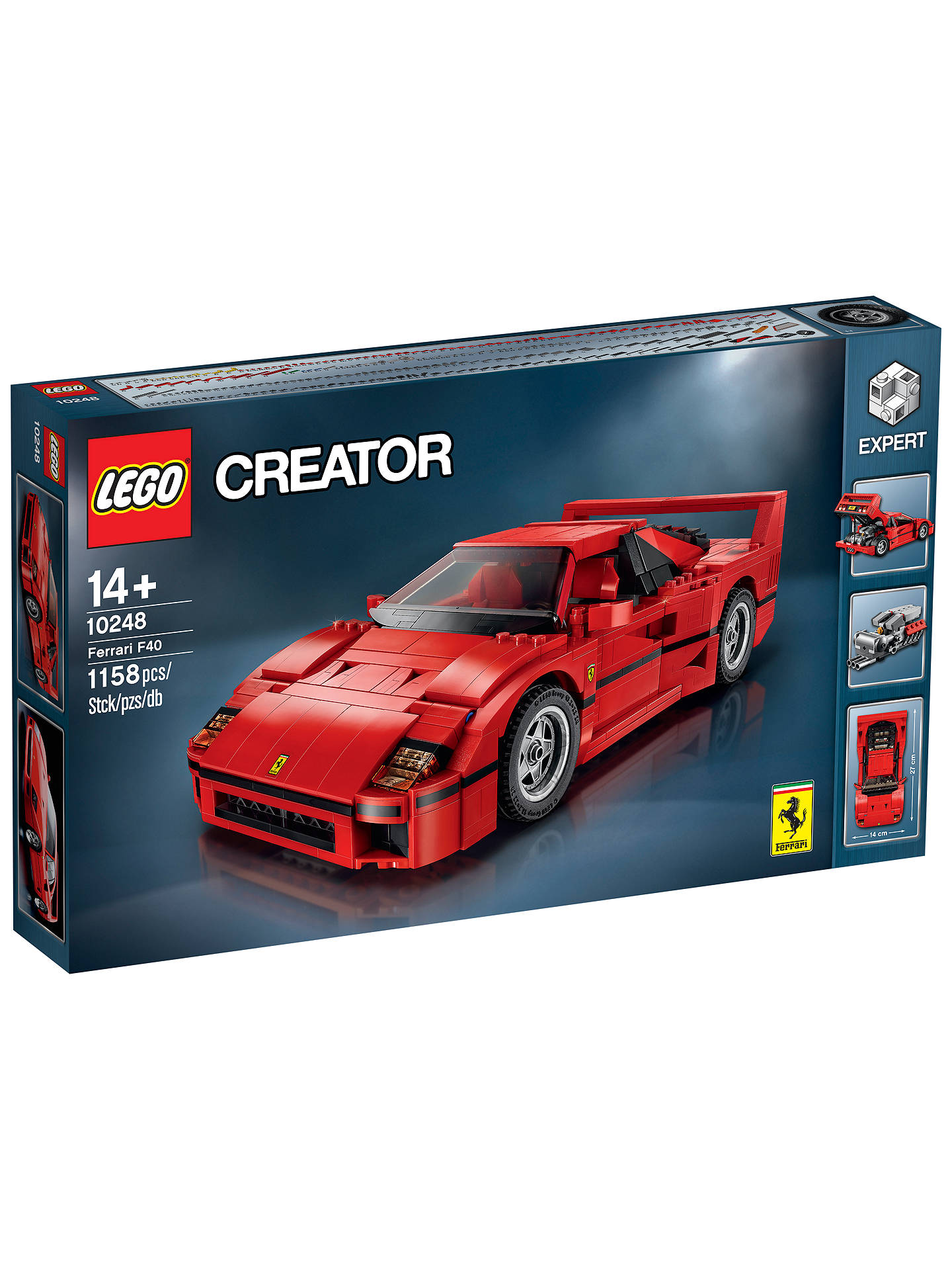 lego creator 10248 ferrari f40 at john lewis partners. Black Bedroom Furniture Sets. Home Design Ideas