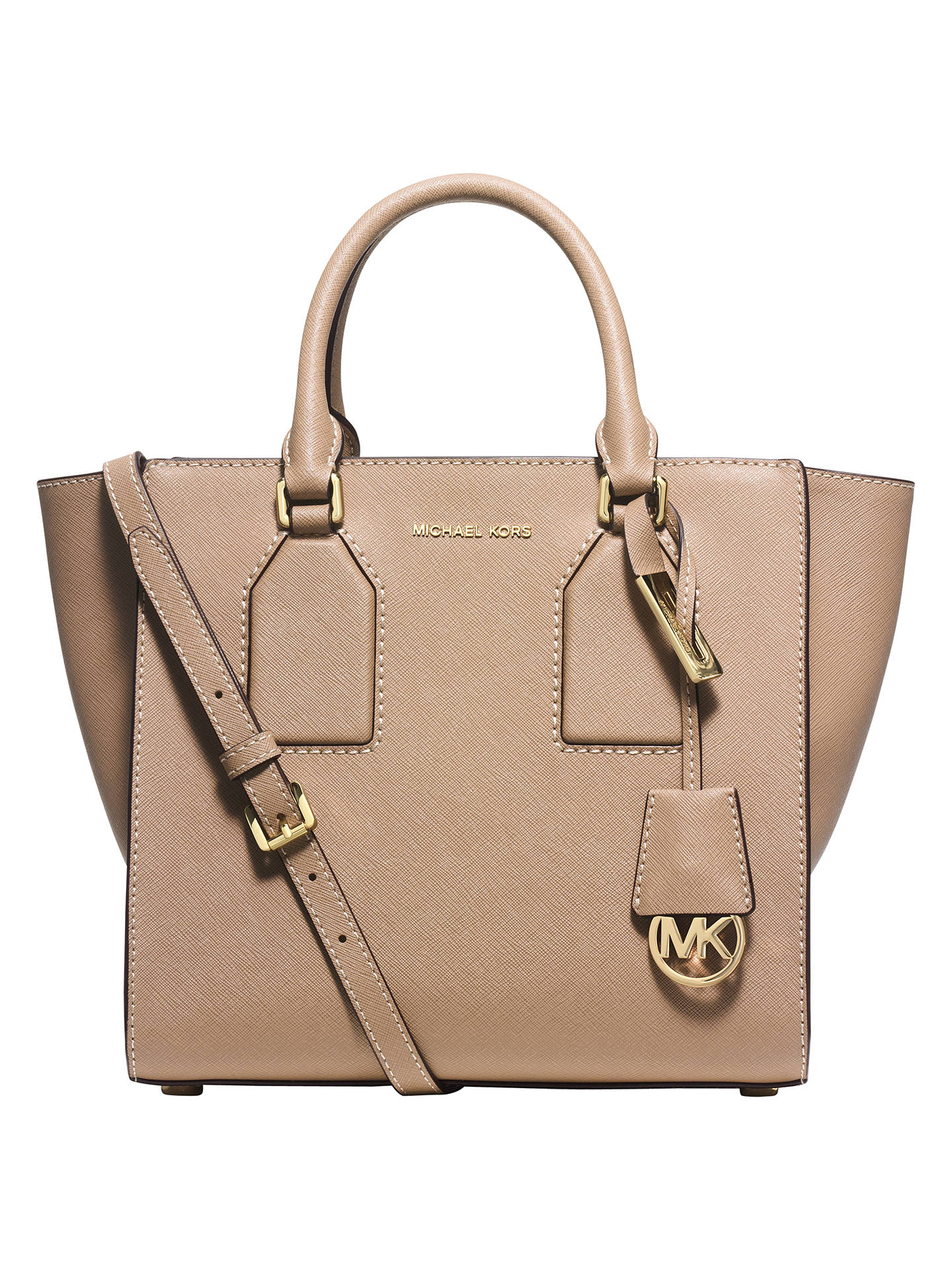 46af5b544849 Buy MICHAEL Michael Kors Selby Medium Leather Satchel, Khaki Online at  johnlewis.com ...