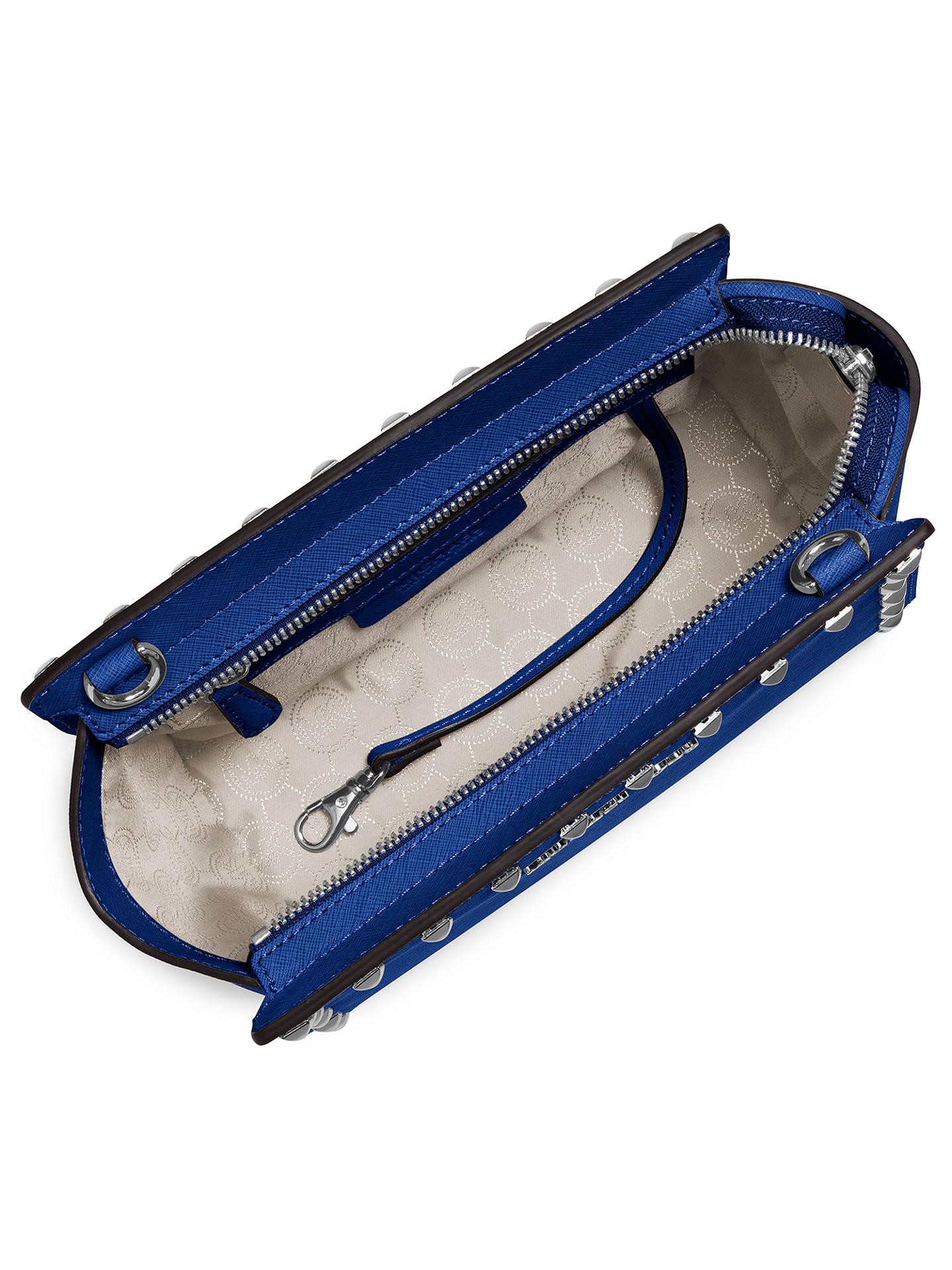 3b02478474873a Buy MICHAEL Michael Kors Selma Stud Medium Leather Messenger Bag, Blue  Online at johnlewis.
