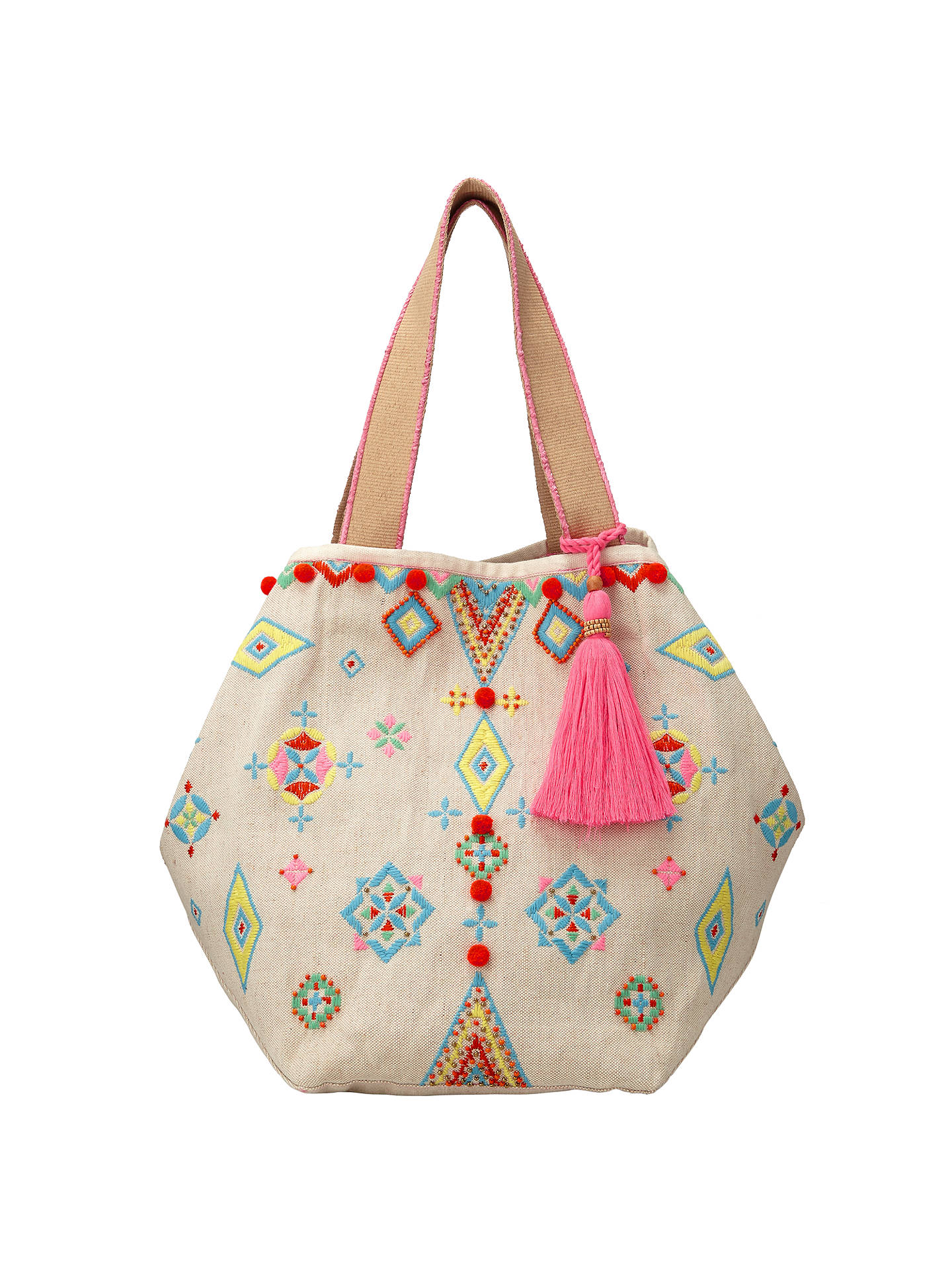 Buy Collection WEEKEND by John Lewis Raffia Tote Bag, Multi Online at johnlewis.com