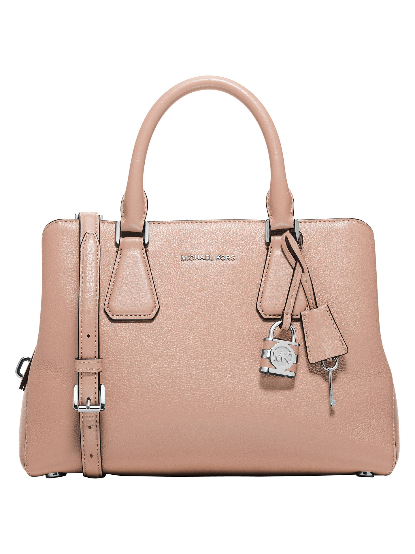 f89b4c6c8f23 MICHAEL Michael Kors Camille Medium Leather Satchel at John Lewis ...