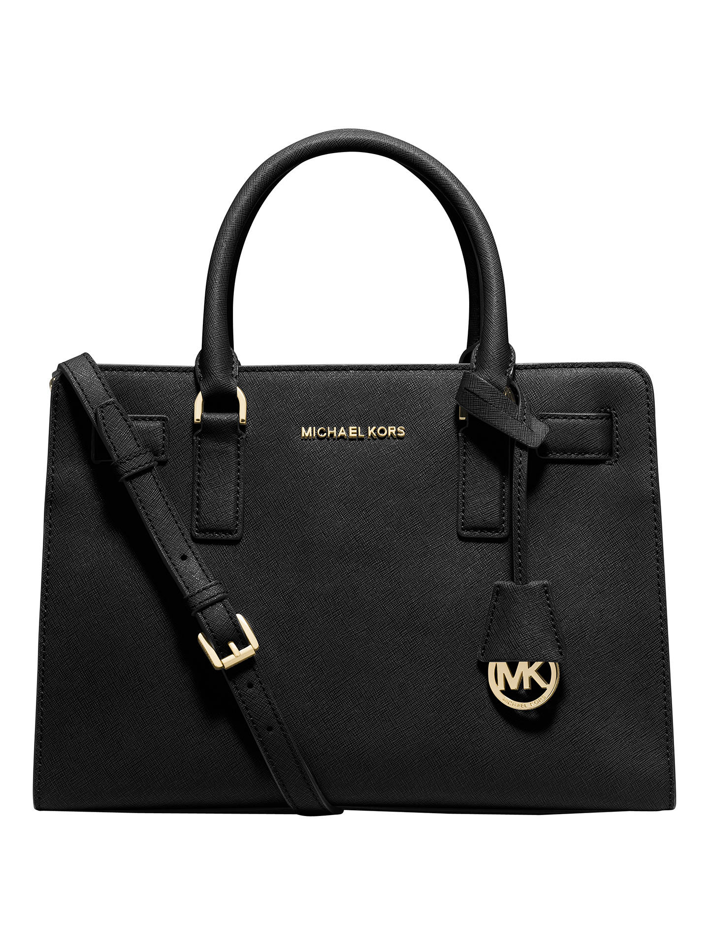 e9e76a9fddaa Buy MICHAEL Michael Kors Dillon Top Zip East/West Leather Satchel, Black  Online at ...