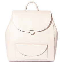 Buy Modalu Flora Leather Backpack, Shark Online at johnlewis.com