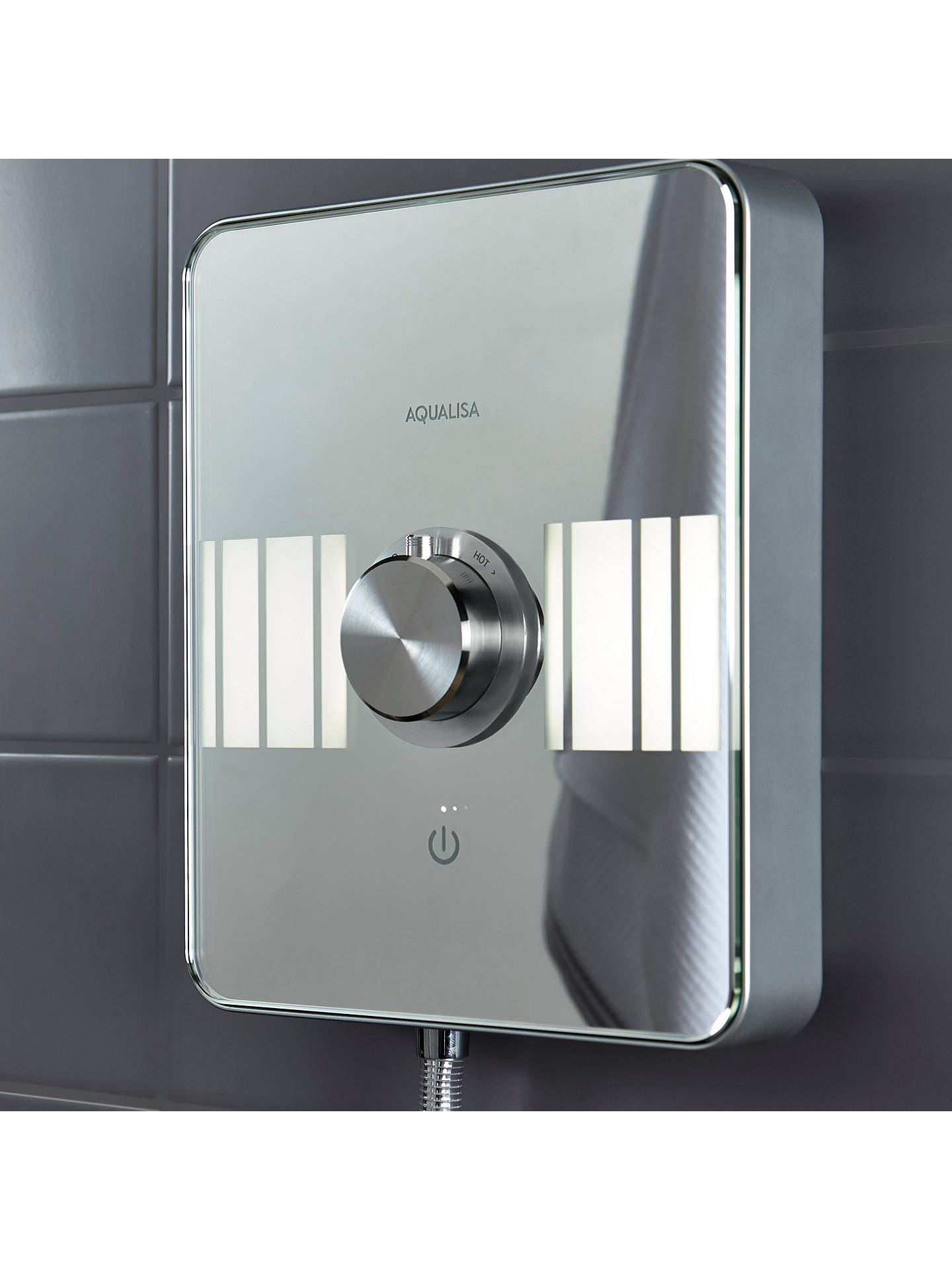 BuyAqualisa Lumi XT 10.5kW Electric Shower with Adjustable Head, Chrome Online at johnlewis.com