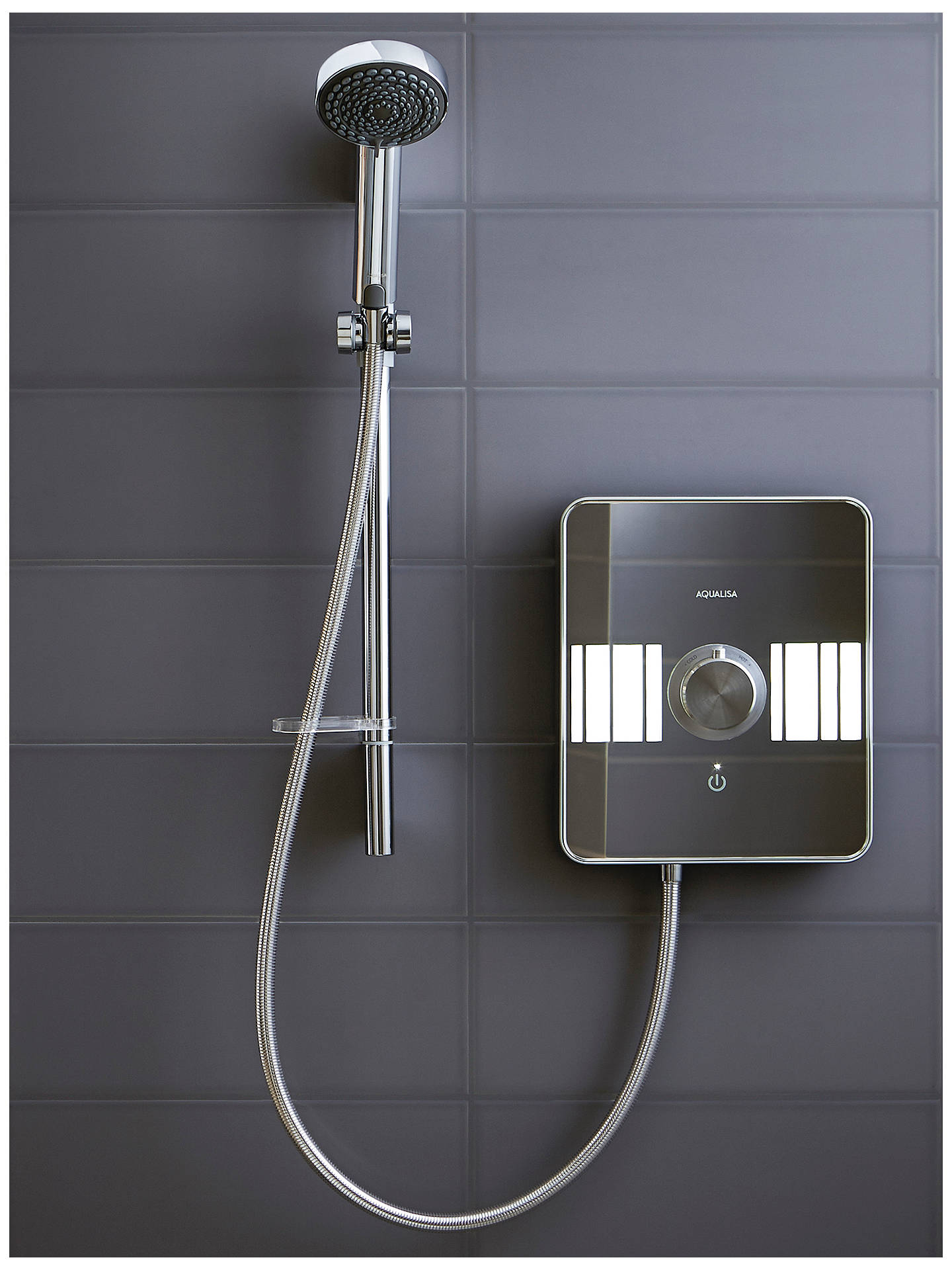 BuyAqualisa Lumi XT 9.5kW Electric Shower with Adjustable Head, Chrome Online at johnlewis.com