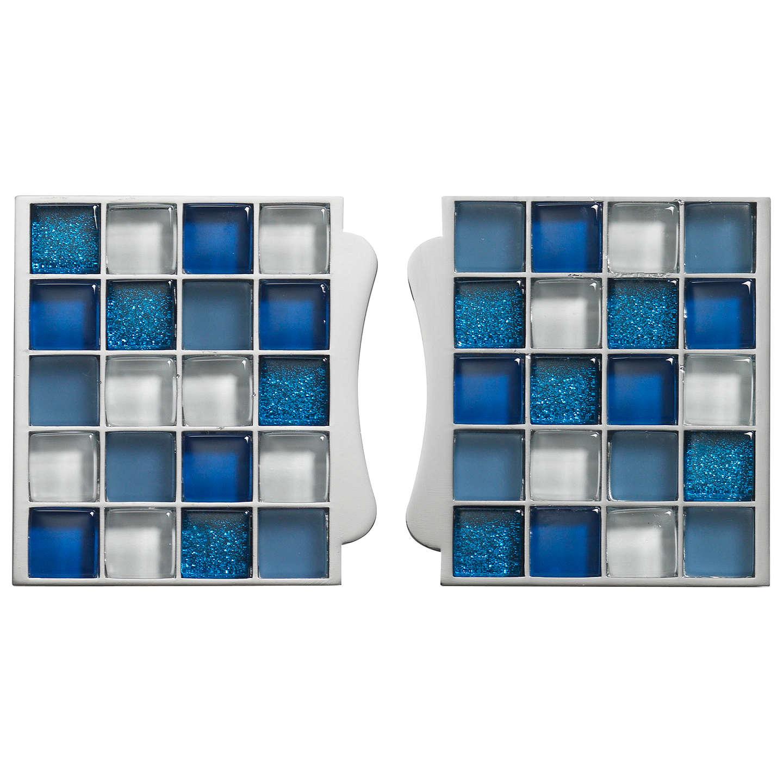 Aqualisa Mosaic Tile Inlays, Blue at John Lewis