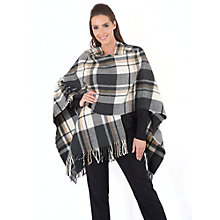 Buy Chesca Oversized Wrap, Camel/Charcoal Online at johnlewis.com