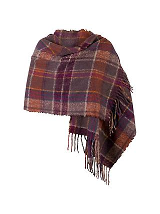 Chesca Super Soft Scarf, Aubergine