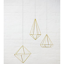 Buy Umbra Prisma Wall Sculpture, Brass Online at johnlewis.com