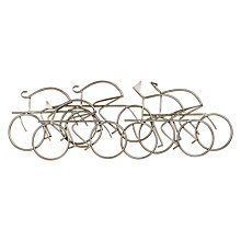 Buy Libra Bicycle Wall Scuplture, Silver Online at johnlewis.com