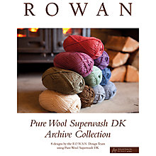 Buy Rowan Pure Wool Superwash Archive Collection Pattern Brochure Online at johnlewis.com