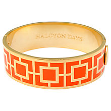 Buy Halcyon Days 18ct Gold Plated Maya Bangle Online at johnlewis.com