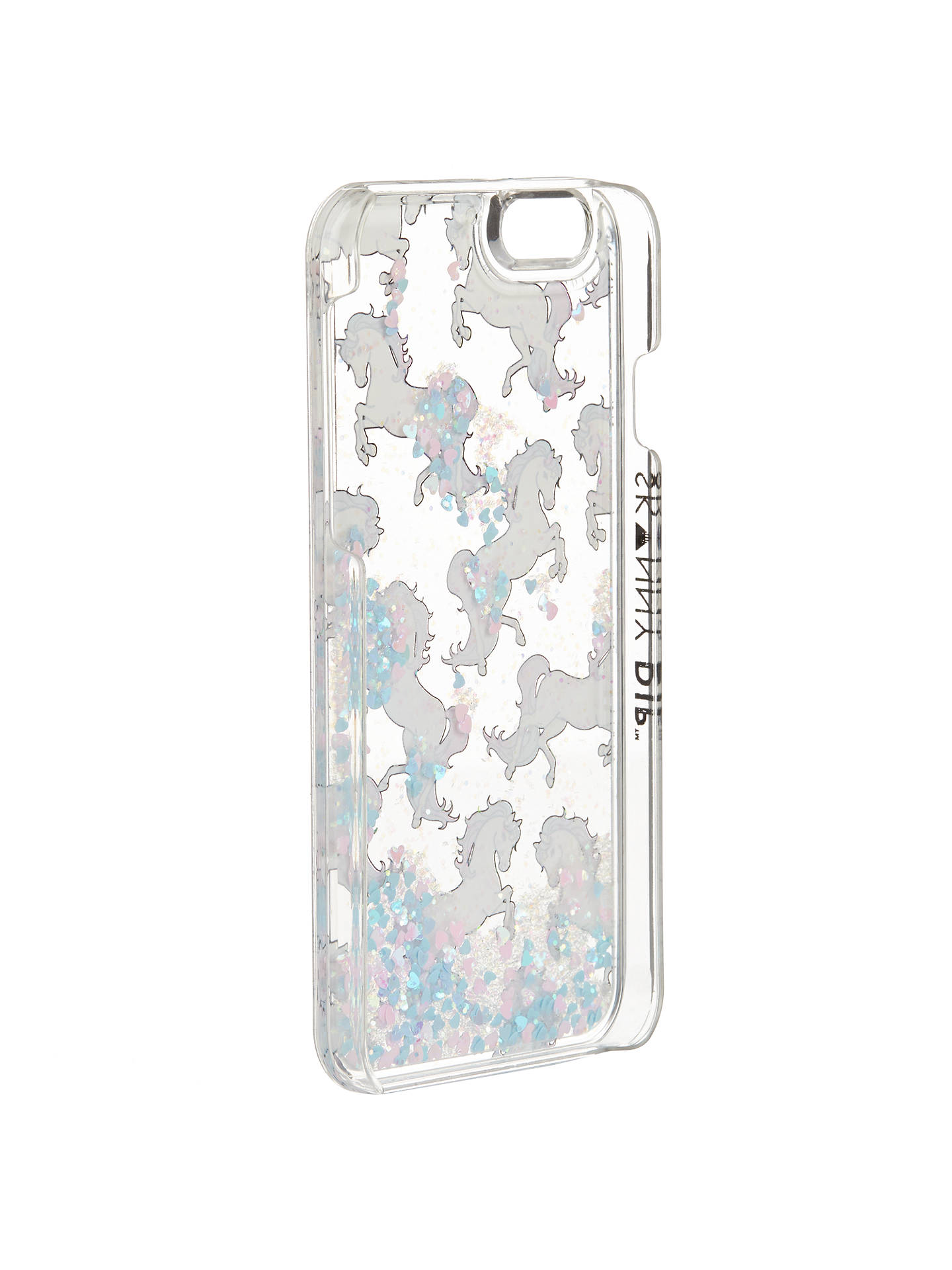 Buy Skinnydip Glitter Unicorn iPhone 6 Case, Multi Online at johnlewis.com