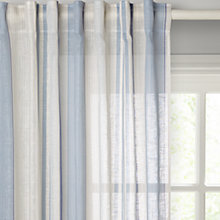 Buy John Lewis Anglesea Slot Top Voile Panel, Blue Online at johnlewis.com