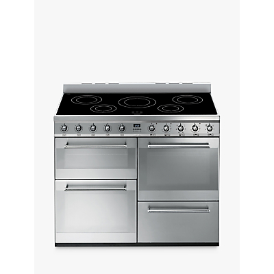 Image of Smeg SYD4110I Symphony Range Cooker with Induction Hob, Stainless Steel