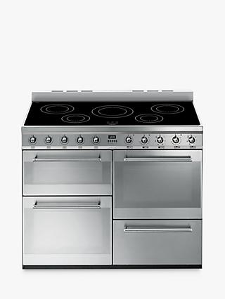 Smeg SYD4110I Symphony Range Cooker with Induction Hob, Stainless Steel
