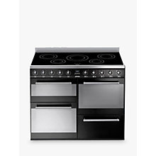 Buy Smeg SYD4110IBL Symphony Range Cooker with Induction Hob, Black Online at johnlewis.com