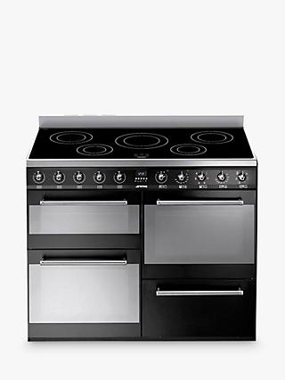 Smeg SYD4110IBL Symphony Range Cooker with Induction Hob, Black