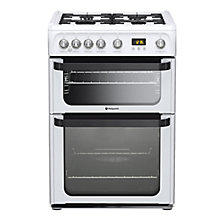 Buy Hotpoint Signature JLG60P Gas Cooker, White Online at johnlewis.com