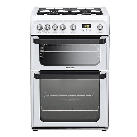 buy hotpoint signature jlg60p gas cooker white john lewis. Black Bedroom Furniture Sets. Home Design Ideas