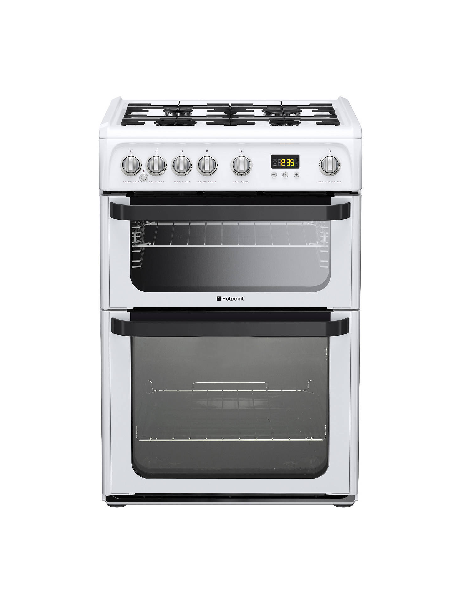 hotpoint signature jlg60p gas cooker white at john lewis. Black Bedroom Furniture Sets. Home Design Ideas