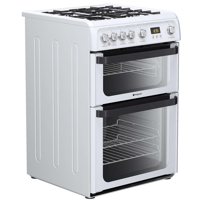 hotpoint signature jlg60p gas cooker white at john lewis. Black Bedroom Furniture Sets. Home Design Ideas